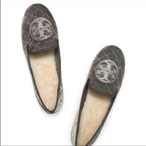 Tory Burch Gray Quilted Billy Slipper (7)